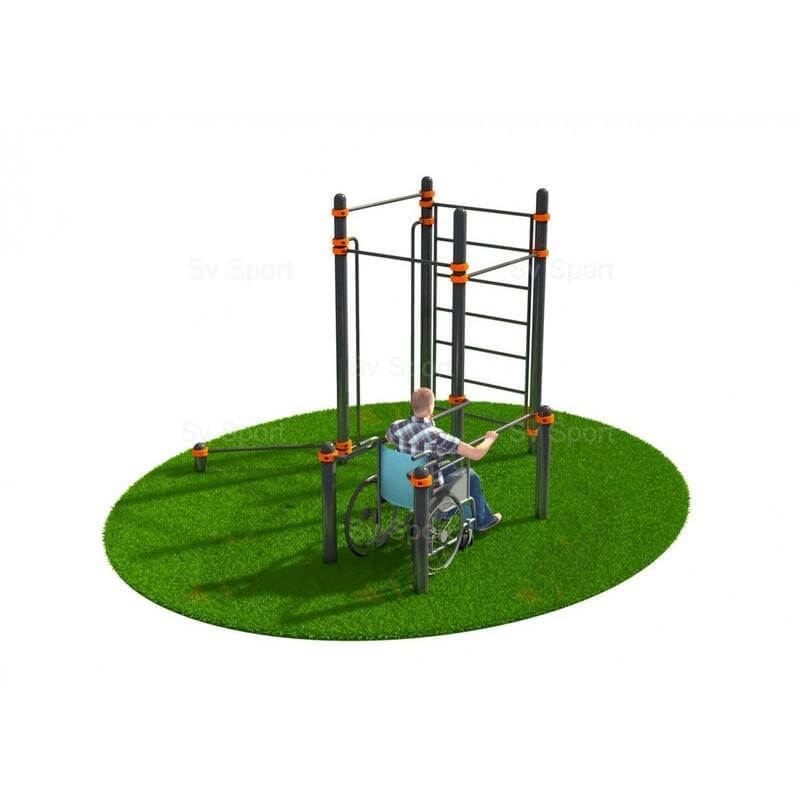 WORK 81 Спортивный комплекс Sv Sport Workout адаптированный для инвалидов - колясочников W81