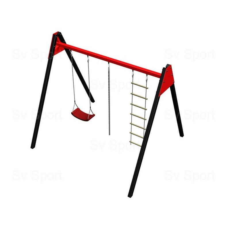 Уличные качели Sv Sport 3м (рама + качели пластиковые + канат + веревочная лестница)