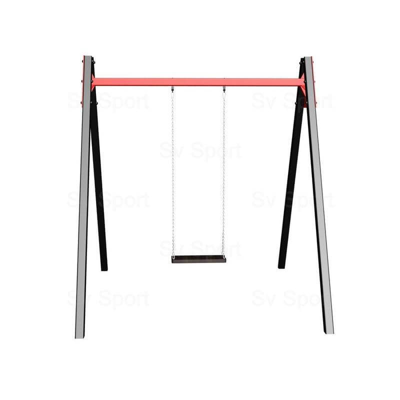 Уличные качели Sv Sport 2,4м (рама + качель деревянная на цепях одноместная)