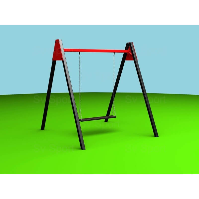 Уличные качели Sv Sport 2,4м (рама + качель деревянная на цепях, двухместная)