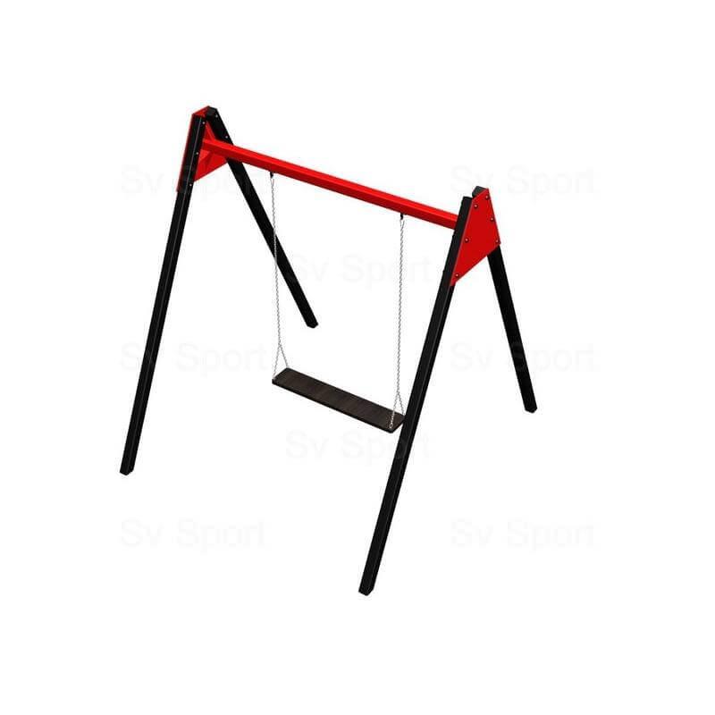 Уличные качели Sv Sport 3м (рама + качель деревянная на цепях, двухместная)