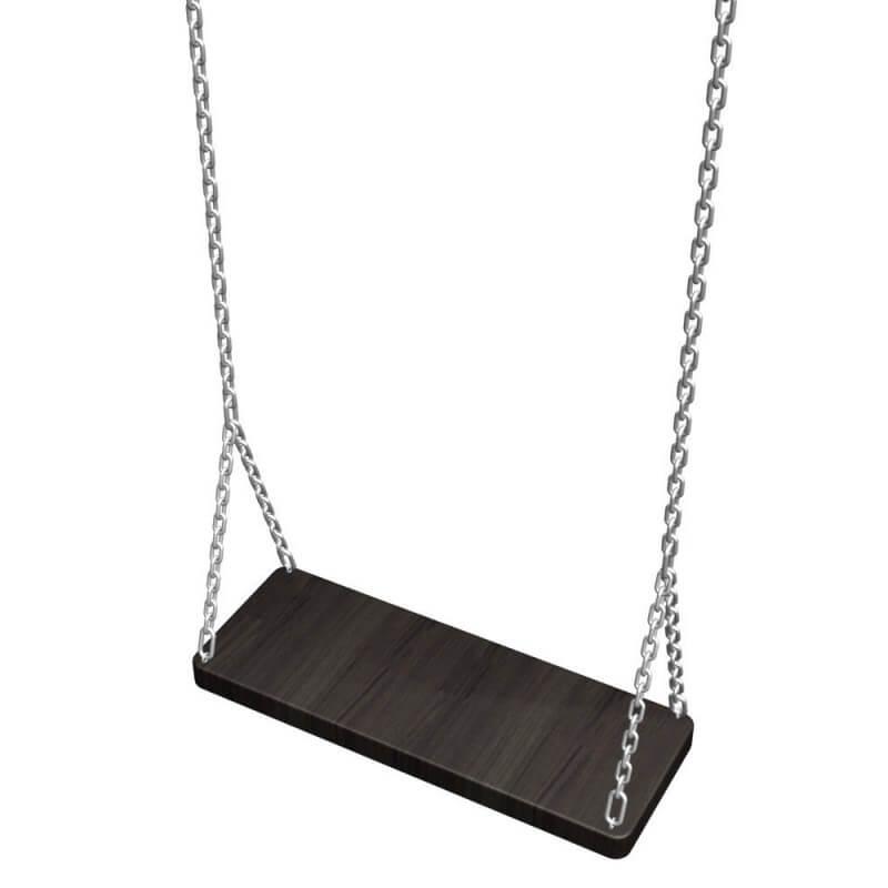 Качель деревянная на цепях 0.5м