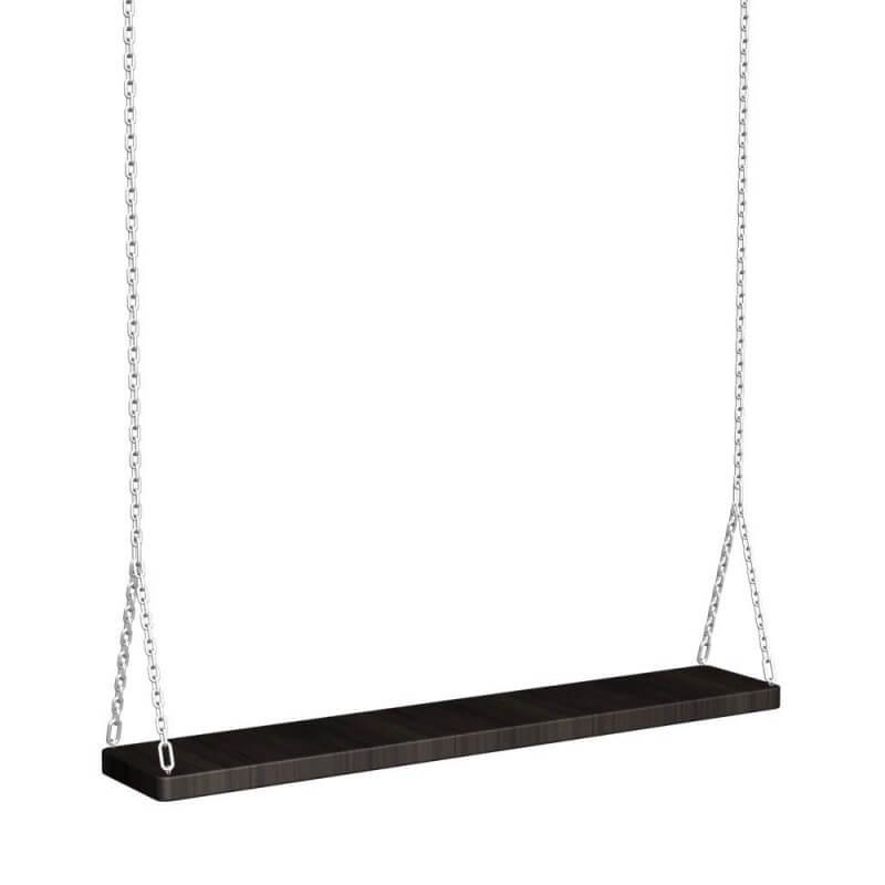 Качель деревянная на цепях 1м