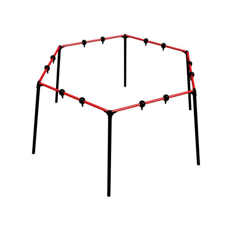 Уличные качели sv шестиугольник (рама) W 2.5м, L 2.8м, D 6.7м