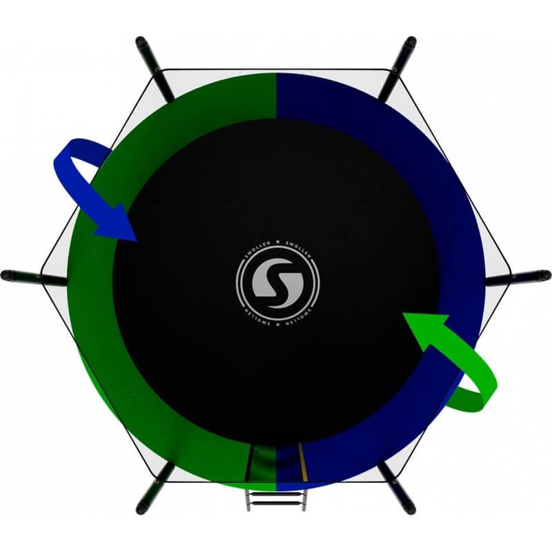 Батут SWOLLEN Classic Black 8 FT (усиленные опоры). Диаметр - 244 см. Нагрузка - 160 кг.
