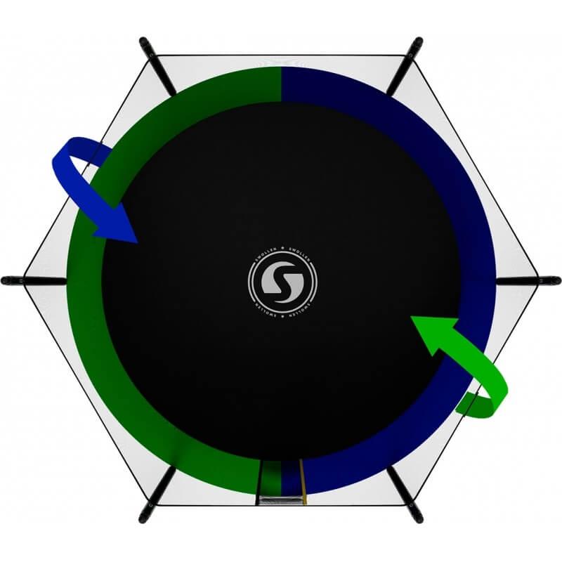 Батут SWOLLEN Classic Black 10 FT (усиленные опоры). Диаметр - 305 см. Нагрузка - 160 кг.