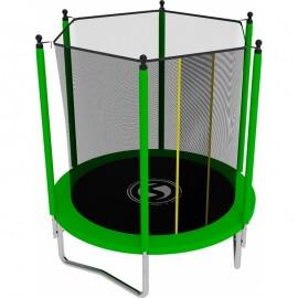 Батут с внутренней сеткой и лестницей, диаметр 6ft (зеленый).Батут SWOLLEN Lite 6 FT (Green)