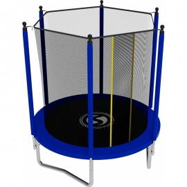 Батут с внутренней сеткой и лестницей, диаметр 6ft (синий).Батут SWOLLEN Lite 6 FT (Blue)