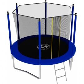 Батут с внутренней сеткой и лестницей, диаметр 8ft (синий). Батут SWOLLEN Lite 8 FT (Blue)