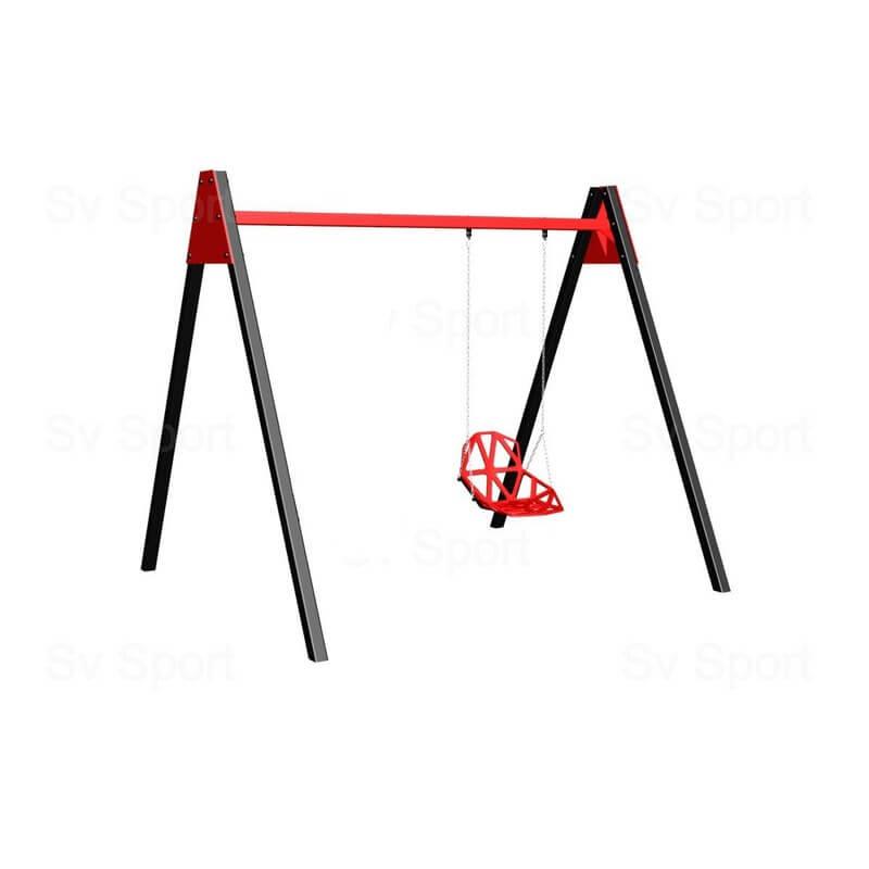 Уличные качели Sv Sport 2,4м (качели пластиковые со спинкой на цепях)